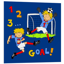 Foam board print  boys playing soccer, Goal! - Fluffy Feelings