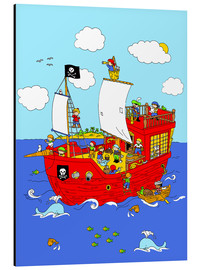 Aluminium print  pirate ship scene - Fluffy Feelings