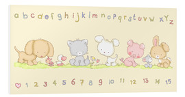Foam board print  baby pet animals with alphabet and numbers - Fluffy Feelings