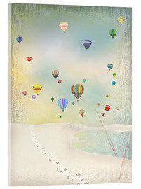Acrylic print  Hot air balloon day - Elisandra Sevenstar