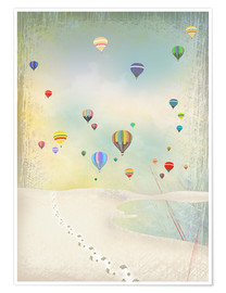 Premium poster  Hot air balloon day - Elisandra Sevenstar