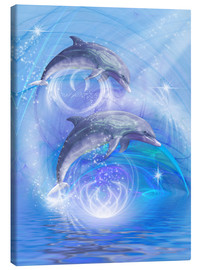 Canvas print  Dolphins Joyride - Dolphins DreamDesign