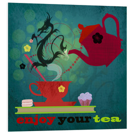 Foam board print  Enjoy your tea - Elisandra Sevenstar