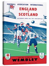 Canvas  england vs scotland 1953 - Sporting Frames