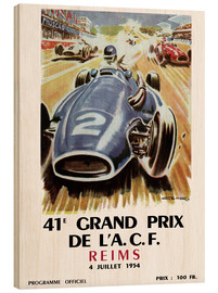 Wood print  grand prix reims - Sporting Frames