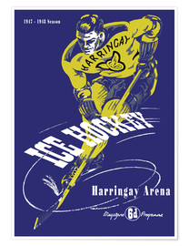 Premium poster harringay ice hockey