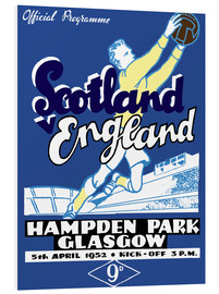 Foam board print  scotland vs england 1952 - Sporting Frames