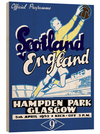 Wood print  scotland vs england 1952 - Sporting Frames