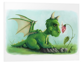 Foam board print  Dragon with a little fairy - Alexandra Kreipl