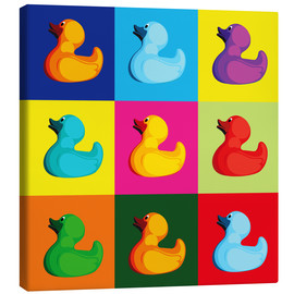 Canvas print  Pop art duck - coico