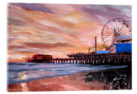 Acrylic print  Santa Monica Pier at Sunset - M. Bleichner