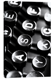 Canvas print  Typewriter keys - Falko Follert