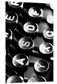 Foam board print  Typewriter keys - Falko Follert