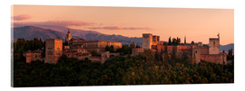 Acrylic glass  Spain - Granada Alhambra Sunset - Tobias Richter