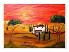 Premium poster  Warmth of Tuscany - Christine Huwer