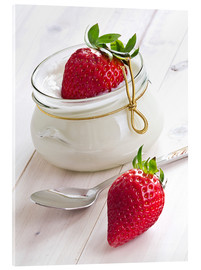 Acrylic glass  Fresh strawberries with curd - Edith Albuschat