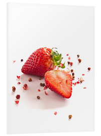 Foam board print  Strawberries with red peppercorns - Edith Albuschat