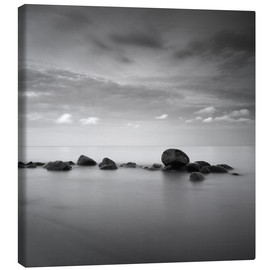 Canvas print  Stones on the sea beach - black and white - Frank Herrmann