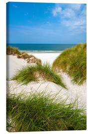 Canvas  Seascape with dunes and beach grass - Reiner Würz RWFotoArt