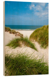Wood print  Seascape with dunes and beach grass - Reiner Würz