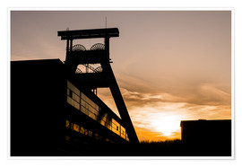 Premium poster Colliery in Sunset