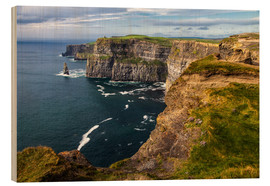Wood print  Cliffs of Moher, Ireland - Jürgen Klust