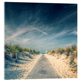 Acrylic print  Way to the beach - Thomas Deter