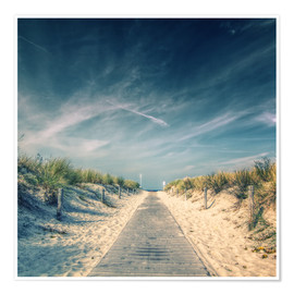 Premium poster  Way to the beach - Thomas Deter