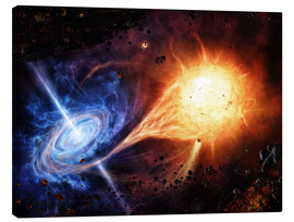 Canvas print  A binary system orbiting near a black hole - Brian Christensen