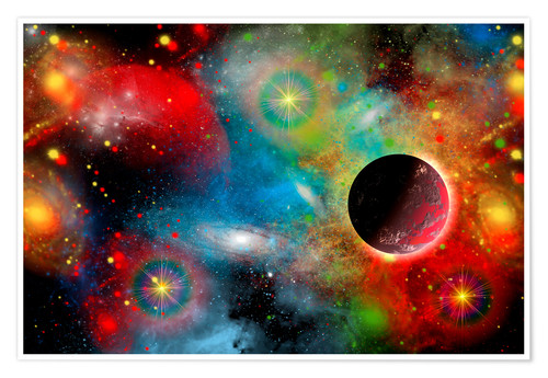 Premium poster colorful universe