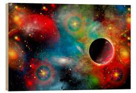 Wood print  colorful universe - Mark Stevenson