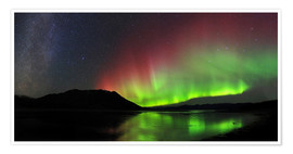 Premium poster  Polar Lights, Milky Way and Big Dipper - Joseph Bradley