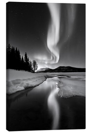 Canvas print  Aurora Borealis over Sandvannet Lake in Troms County, Norway - Arild Heitmann