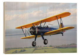 Wood print  Boeing Stearman Model 75 Kaydet - Daniel Karlsson