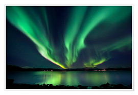 Premium poster  Northern lights over Tjeldsundet in Troms - Arild Heitmann