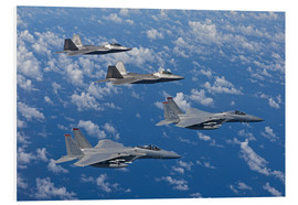 Foam board print  Two F-15 Eagles and F-22 - HIGH-G Productions
