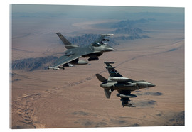Acrylic print  Two F16 on a training mission - HIGH-G Productions