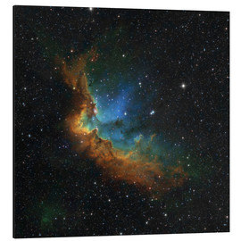 Aluminium print  NGC 7380 in the Hubble palette colors - Rolf Geissinger