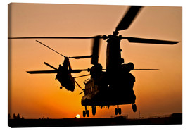 Canvas print  Two Royal Air Force CH-47 Chinooks