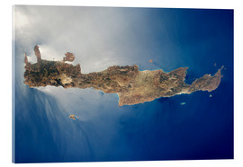 Acrylic print  View from space of the island of Crete