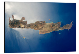 Aluminium print  View from space of the island of Crete - Stocktrek Images