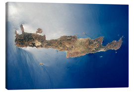 Canvas print  View from space of the island of Crete