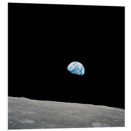 Foam board print  Earth from the Moon - Stocktrek Images