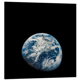 Aluminium print  Earth from the viewpoint of Apollo 8