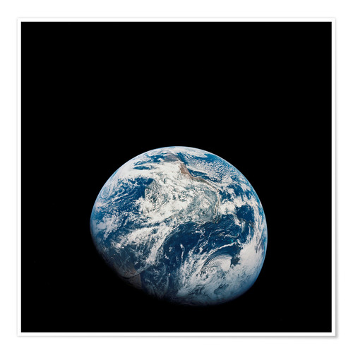 Premium poster Earth from the viewpoint of Apollo 8