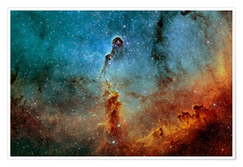 Premium poster  The Elephant Trunk Nebula - Rolf Geissinger