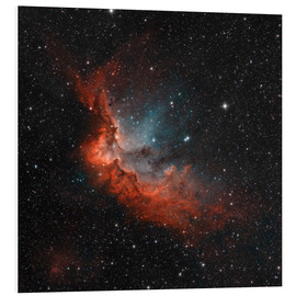 Foam board print  NGC 7380 in true colors. - Rolf Geissinger