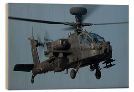 Wood print  A U.S. Army AH-64 Apache helicopter. - Stocktrek Images