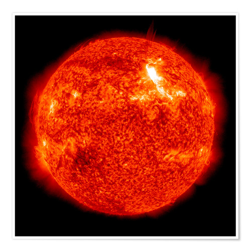 Premium poster Solar flare on the Sun's surface