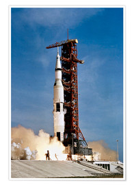 Poster  Apollo 11 space vehicle taking off from Kennedy Space Center - Stocktrek Images